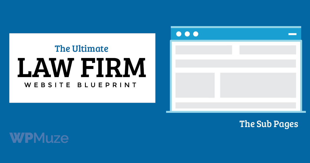 How to create sub page for a law firm website